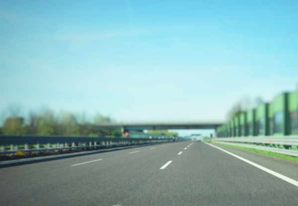 An empty Autobahn in Germany