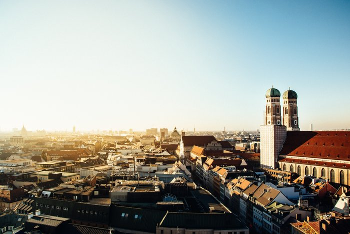 Munich skyline with Frauenkirche